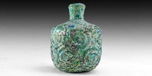 Green Glass Vessel