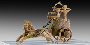 Ivory War Chariot and Archer with Drawn Bow