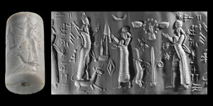 Neo-Babylonian Cylinder Seal of a High Official