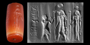 Cylinder Seal with Worshipping Scene