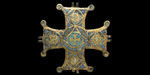 Limoges Gilt Enamelled Cross Pendant
