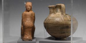 Stirrup Jar and Seated Goddess