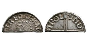 Aethelred II - London - Long Cross Cut Halfpenny
