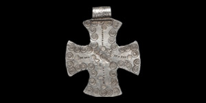 Silver Stamped Cross Pendant