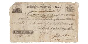 Salisbury & Shaftsbury Bank - 11 October 1808 - £1