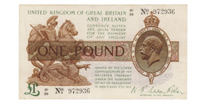 Treasury - 1919 ND Issue - Fisher £1
