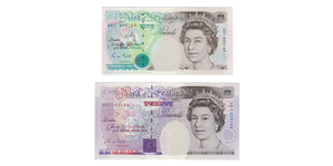 Bank of England - 1990-1992 Issue - £5 and £20 Limited Edition Matching Numbers Pair [2]