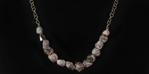 Rough Ruby Bead Necklace
