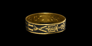 Gold Memento Mori Ring with Skeleton