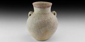 Holy Land Trans-Jordan Net-Painted Amphora