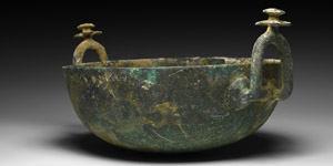 Bowl with Flower Handles