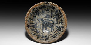 Glazed Bowl with Soldiers