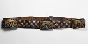 Leather Belt with Mounts
