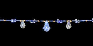 Lapis Lazuli Bead Necklace with Cat Amulets