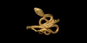 Gold Coiled Snake Ring