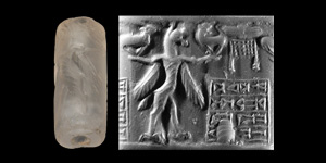 Middle-Assyrian Cylinder Seal with Gryphon