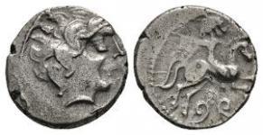 Gaul - Bituriges Cubi - Horseman with Shield Drachm