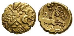 Catuvellauni - Early Whaddon Chase Cogwheel Gold Stater