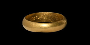 Gold All I Forsooke & Thee I Tooke Posy Ring