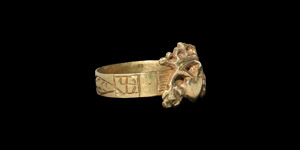 Georgian Gilt Silver Crowned Heart Ring