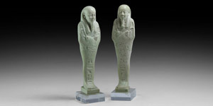 Hieroglyphic Shabti Pair