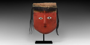 Chancay Mummy Mask with Wig