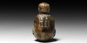 Chavin Lidded Vessel with Applicator