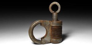 Elaborate Calligraphic Lock with Key