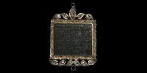 Calligraphic Gemstone Plaque in Frame