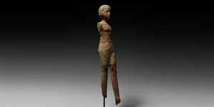 Wooden Striding Figure