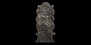 Silver Zoomorphic Belt Plate