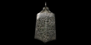 Bifacial Pendant with Entwined Cross