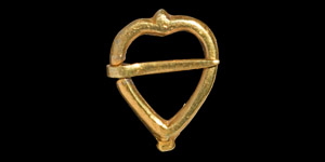 Gilt Silver Heart-Shaped Ring Brooch