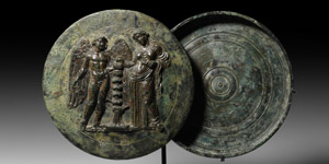 Mirror with Lid Featuring Aphrodite and Eros