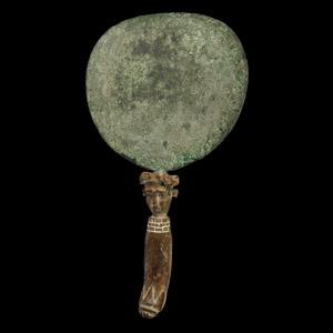 Egyptian Mirror with Head of Hathor