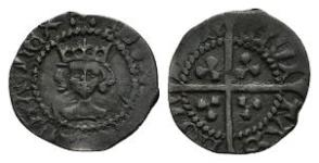 Edward IV - London - Long Cross Halfpenny