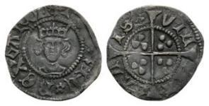 Henry VI - Calais - Rosette Mascle Halfpenny