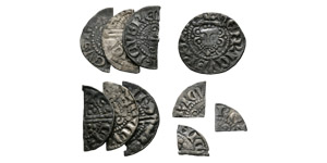 Henry III - Long Cross Penny and Cut Fractions [10]