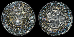 British Anglo-Saxon - Aethelred II - Second Hand Penny - London - Aedered