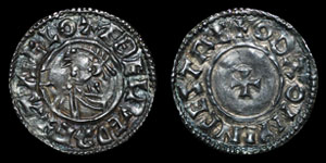 British Anglo-Saxon - Aethelred II - Last Small Cross Penny - Winchester - Oda