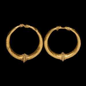 Gold Earring Pair