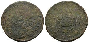 Ireland - James II - OCT. 1689 - Gunmoney Large Halfcrown
