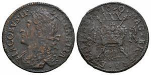 Ireland - James II - Mar: 1690 - Gunmoney Large Halfcrown