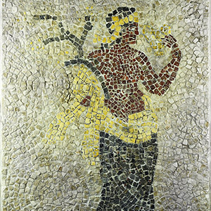 Mosaic with Naiad Holding Frond and Golden Hydria