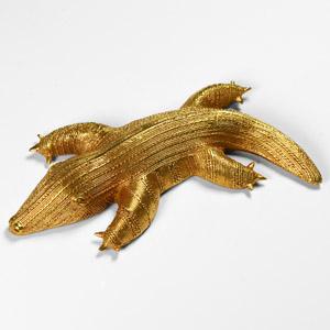 Gilt Monitor Lizard Sword Ornament
