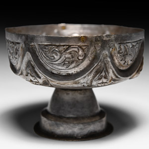 Medieval Silver Hexagonal Chalice