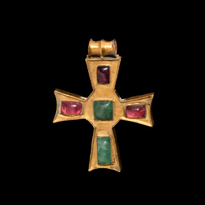Jewelled Gold Pendant with Emeralds