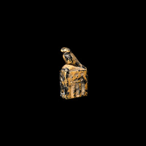 Gold Horus on Column Amulet