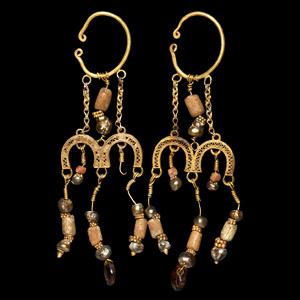 Gold Earring Pair