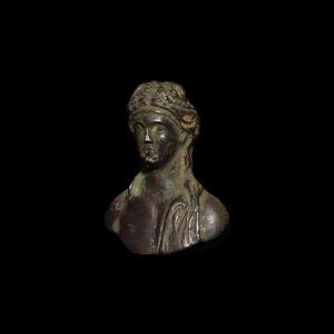 Silver Bacchus Bust Mount